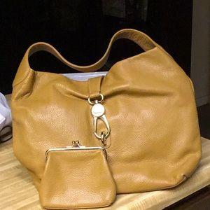Dooney & Bourke Belvedere Leather Bag & Coin Purse